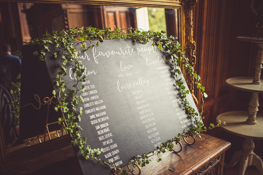 Wedding guest list photography