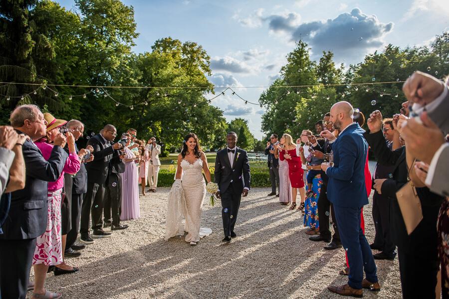 bubble confetti wedding