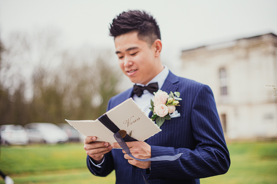 Deny reading his wedding vows to Lucy