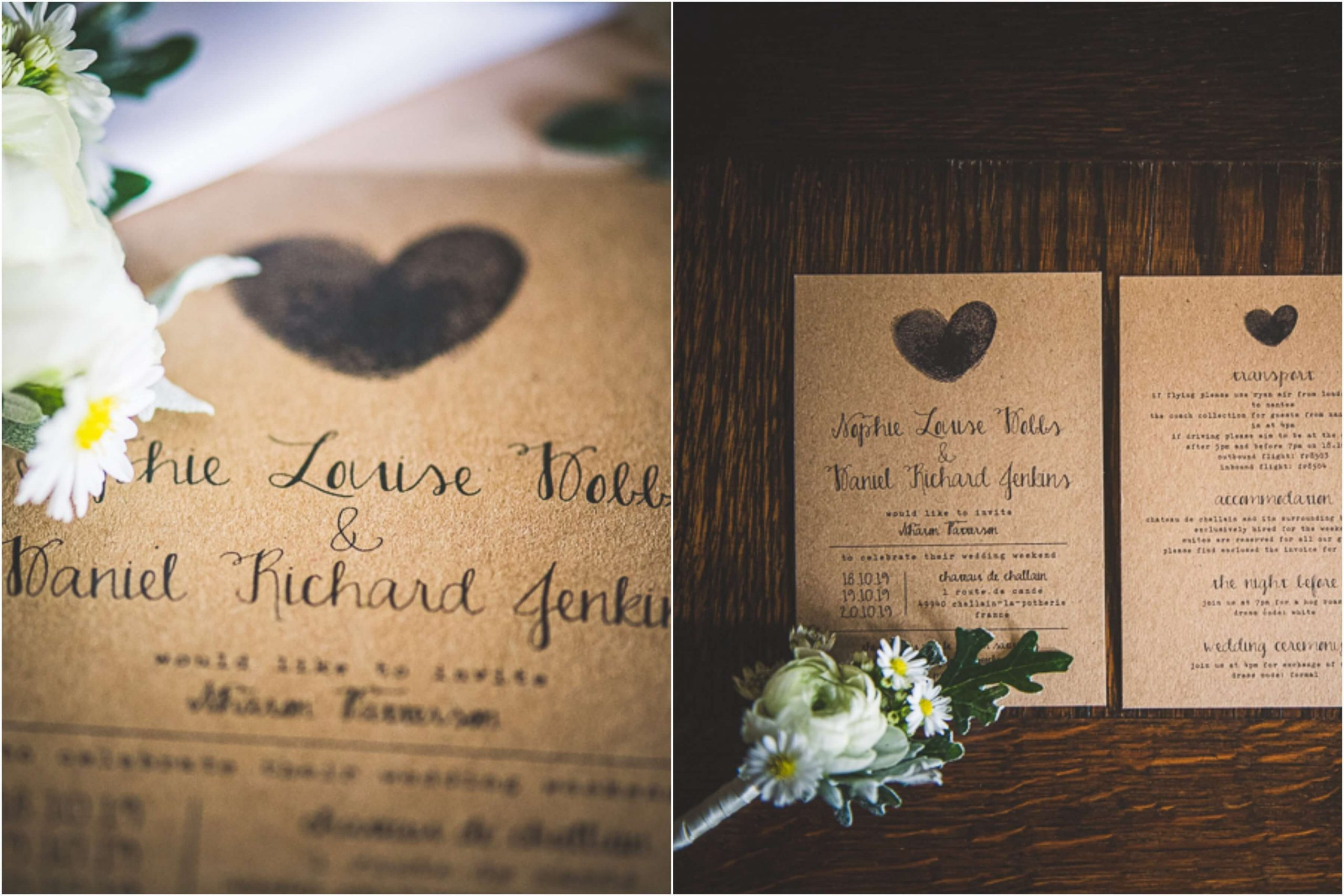wedding invitations with fingerprints