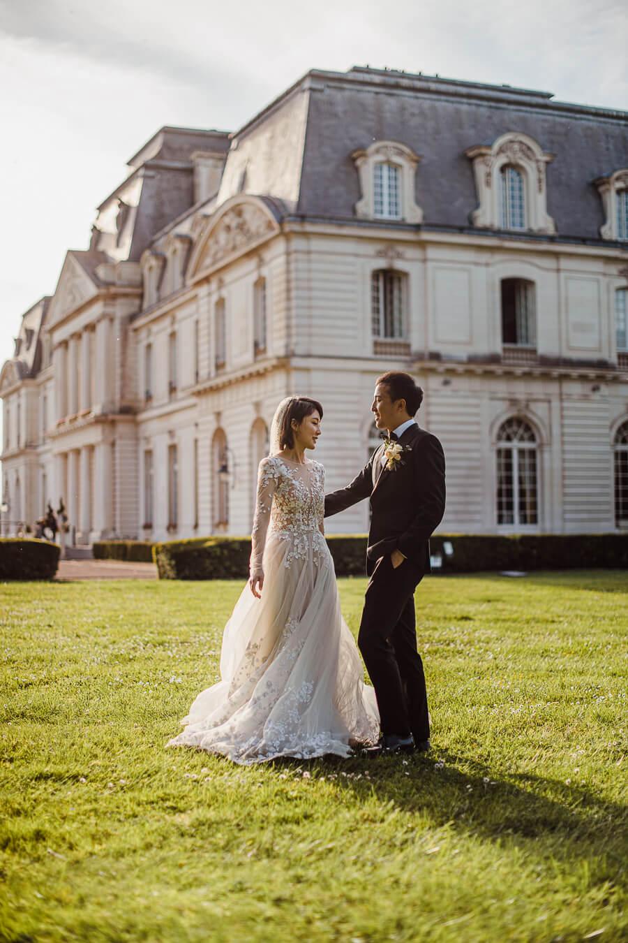 posed wedding photographs