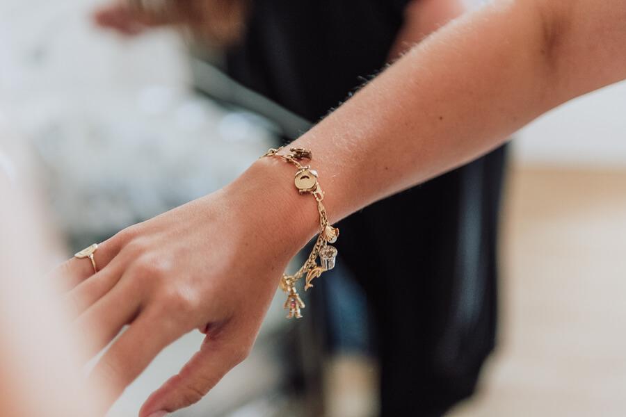 bridal charms bracelet