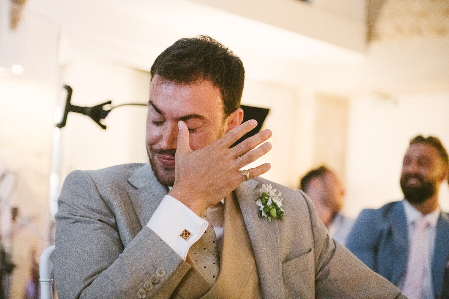 emotional speech wedding photo
