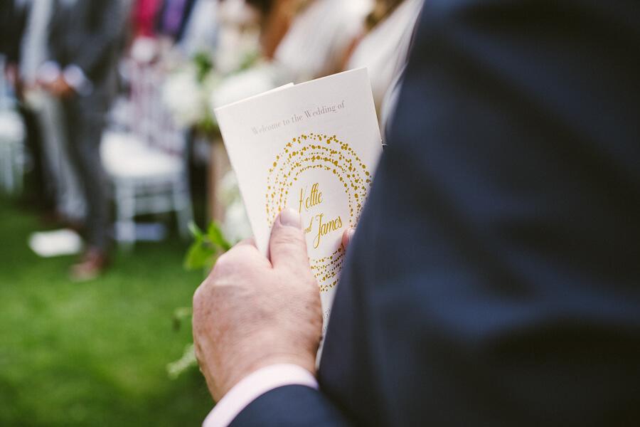 order of service wedding