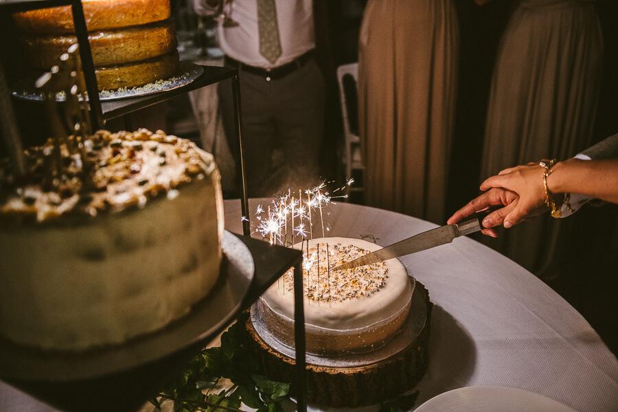 wedding cake cutting photo
