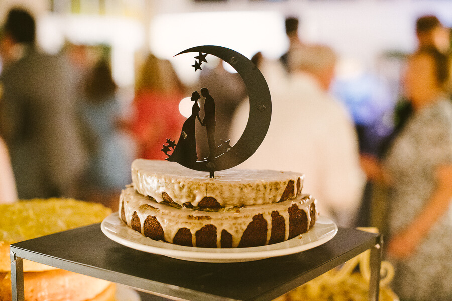 wedding cake with a moon